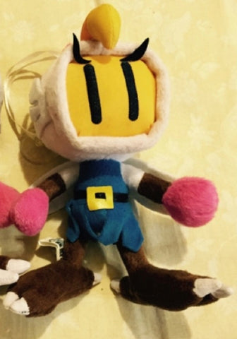 "Taiwan Limited Bomberman Hawk Blue ver 6"" Plush Doll Figure"
