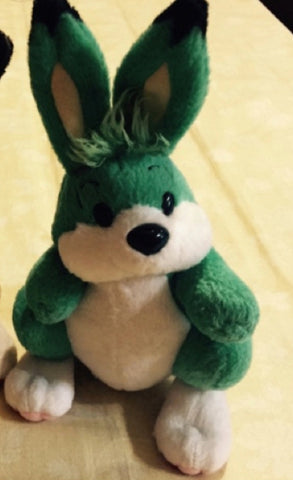 "Taiwan Limited Bomberman Rabbit Green ver 6"" Plush Doll Figure"