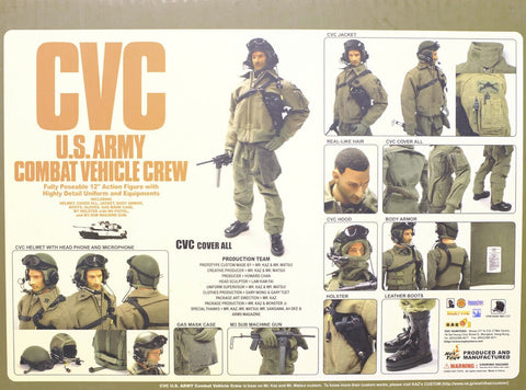 "Hot Toys 1/6 12"" US Army CVC Tank Commander Combat Vehicle Ultra Limited Mr Kaz Custom Action Figure"