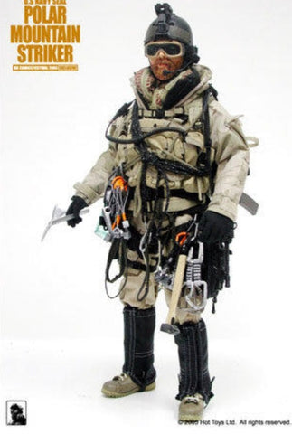 "Hot Toys 1/6 12"" U.S. Navy Seal Polar Mountain Striker Action Figure"