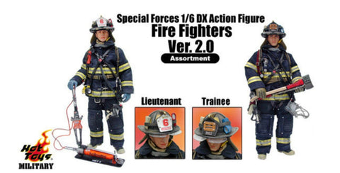 "Hot Toys 1/6 12"" Military Special Forces DX Fire Fighters ver 2.0 Assortment Lieutenant Trainee 2 Action Figure Set"