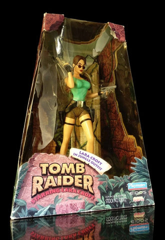 "Playmates Tomb Raider Lara Croft Tomb Raider in Jungle Outfit 9"" Display Dioramas Trading Figure"