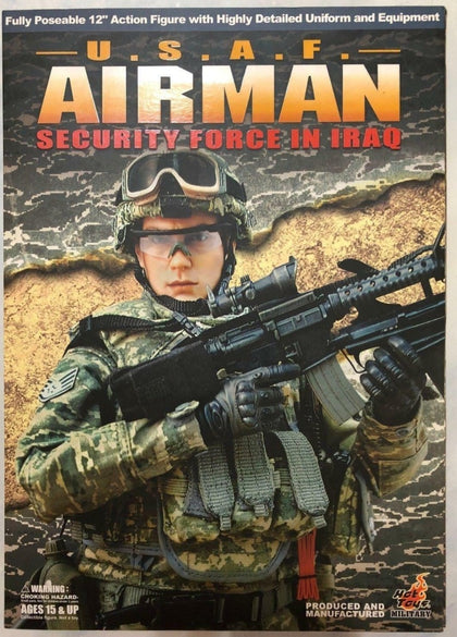 "Hot Toys 1/6 12"" USAF Airman Security Force in Iraq Action Figure"