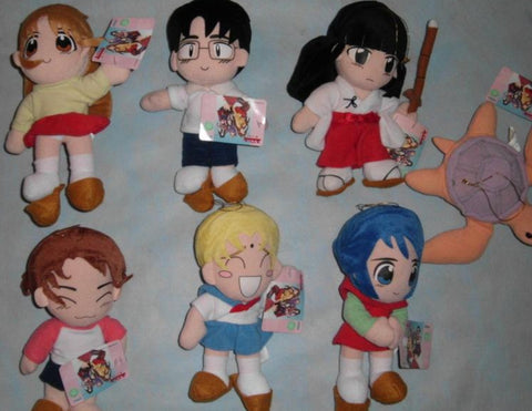 Sega Prize Love Hina 7 Plush Doll Collection Figure Set