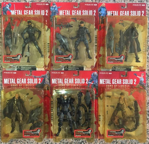 McFarlane Toys Konami Metal Gear Solid 2 Sons of Liberty 6 Action Figure Set