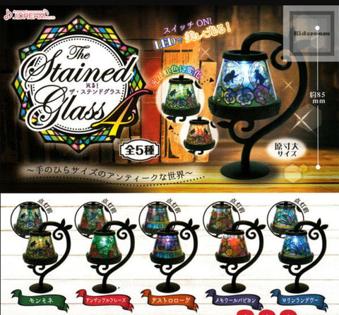 J.Dream Gashapon The LED Stained Glass Table Lamp Part 4 5 Collection Figure Set