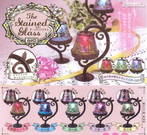 J.Dream Gashapon The LED Stained Glass Table Lamp Part 5 5 Collection Figure Set