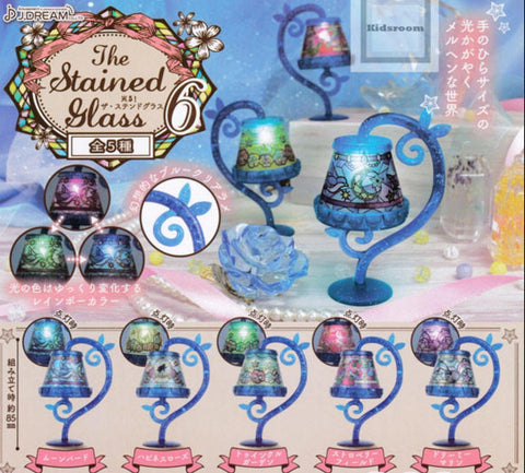 J.Dream Gashapon The LED Stained Glass Table Lamp Part 6 5 Collection Figure Set