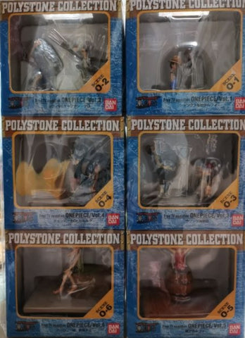 Bandai Polystone Collection Scene One Piece 6 Trading Figure Set