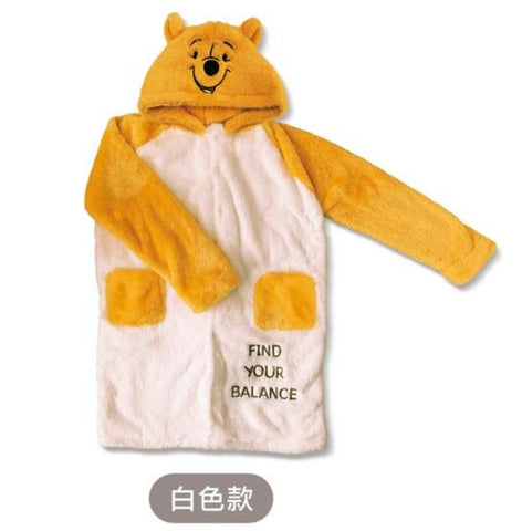 Taiwan 7-11 Limited Disney Winnie The Pooh Furry Nightgown Type B