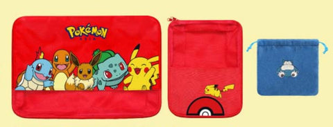 Pokemon Pocket Monsters Taiwan Family Mart Limited 3 Travel Bag Set Type A