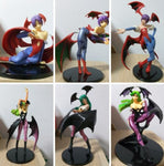 Capcom Collection Darkstalkers Vampire Savior Morrigan & Lilith 6 Trading Figure Set Used