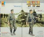 "Dragon 1/6 12"" WWII Barbarossa 1941 Wehrmacht Machine Gun Team MG Schützen Heinrich & Erich Action Figure Set"
