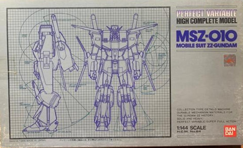 Bandai 1/144 HCM High Complete Model Mobile Suit ZZ Gundam Perfect Variable MSZ-010 Action Figure