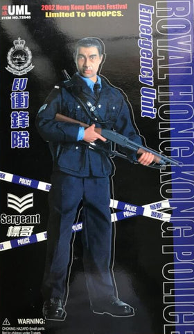"Dragon 1/6 12"" Royal Hong Kong Police EU Emergency Unit Sergeant Limited Action Figure"