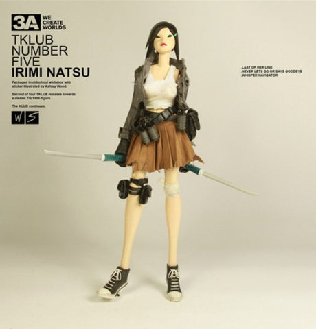 "ThreeA 3AA Toys 1/6 12"" Ashley Wood Tomorrow Queen TKLUB Number Five Irimi Natsu ver Vinyl Action Figure"