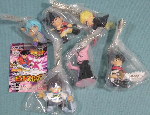 Bandai Beet the Vandel Buster Gashapon 6 Mascot Strap Swing Figure Set - Lavits Figure