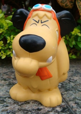 "1995 Wacky Races Muttley Dog 5"" Soft Vinyl Coin Bank Figure - Lavits Figure  - 1"