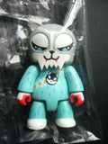 "Toy2R 2006 Qee Key Chain Collection 2.5"" Husky Hunter Grey Mini Action Figure - Lavits Figure  - 2"