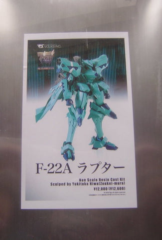 Volks Hobby Limited Edtion Muv-Luv Alternative F-22A Resin Cold Cast Model Kit Figure - Lavits Figure