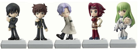 Bandai Code Geass Lelouch Of The Rebellion Chibi Voice Doll Vol 1 5 Mini Trading Figure Set - Lavits Figure
