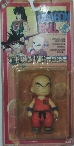 "Bandai Vintage Dragon Ball Battle Fast Kicking Krillin Klilyn 4"" Action Figure - Lavits Figure"