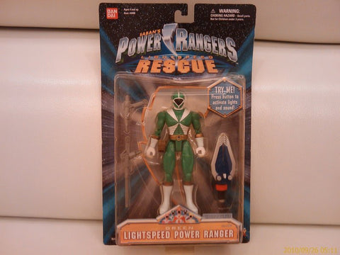 Bandai Power Rangers Gogo Five V Lightspeed Rescue Green Fighter Action Figure - Lavits Figure  - 1