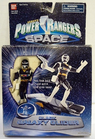 Bandai Power Rangers In Space Megaranger Mega Black Galaxy Glider Action Figure - Lavits Figure