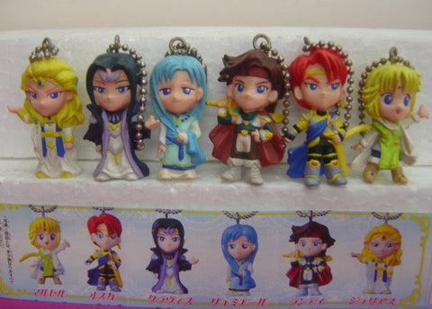 Bandai Angelique Trois Angel Swing Gashapon 6 Mini Mascot Strap Key Chain Figure Set - Lavits Figure