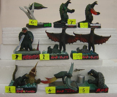 Furuta Daikaiju Gamera Trading Collection 7+2 Secret 9 Mini Figure Set - Lavits Figure