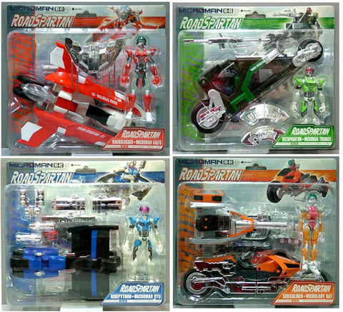 Takara Microman Road Force Spartan RS-01 RS-02 RS-03 RS-04 Action Figure Set - Lavits Figure