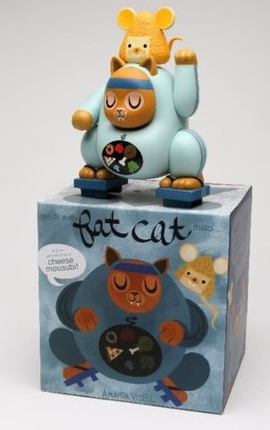 "Amanda Visell 2009 Zakkamono Miao & Mousubi Fat Cat Edition 8"" Vinyl Figure - Lavits Figure"