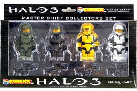 Medicom Toy Kubrick 100% Gentle Giant Halo 3 Master Chief Collectors Set 4 Action Figure - Lavits Figure