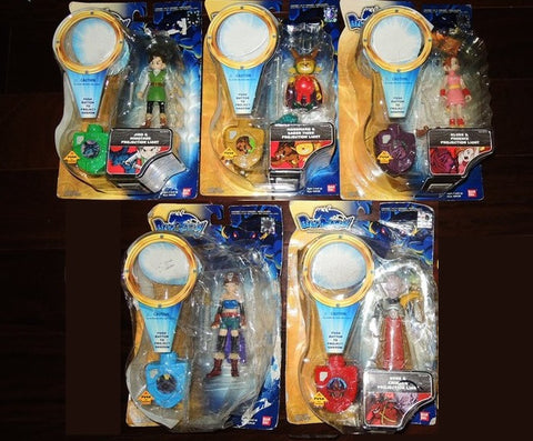 Bandai 2008 Blue Dragon Projection Light Lighting Shodow 5 Trading Collection Figure Set - Lavits Figure