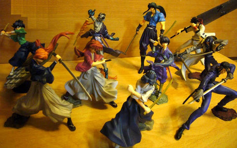 Yamato SIF Story Image Figure Samurai X Rurouni Kenshin Series 1+2 10 Trading Collection Figure Set - Lavits Figure