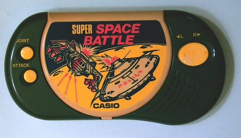 Casio 1991 CG-820L Super Space Battle Electronic Handheld Video LCD Game - Lavits Figure  - 1