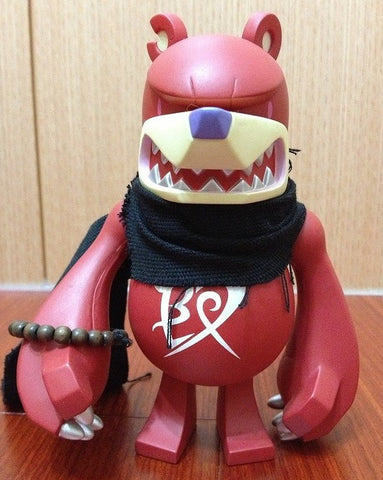 "Wonderwall 2008 Touma Knuckle Bear Guardian Red Ver. 6"" Vinyl Figure - Lavits Figure  - 1"