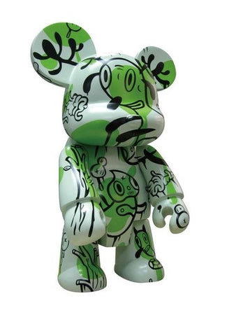 "Toy2R 2006 Qee Gary Baseman Buckingham Forest Bear Green Ver 8"" Vinyl Figure - Lavits Figure"