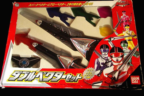 Bandai 2000 Power Rangers Time Force Timeranger Double Vector Weapon Play Set - Lavits Figure  - 1