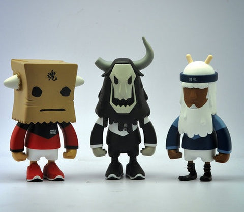 "Hands in Factory 2014 UpTeMPO RocKOON Running Baby Horns Day Off Wraith Wil.P Ver 3 7"" Vinyl Figure Set - Lavits Figure"