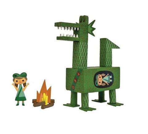 "Amanda Visell 2009 Switcheroo Dragon Scout Green 7"" Vinyl Figure - Lavits Figure"