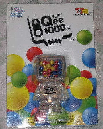 "Toy2R 2008 Qee Key Chain Collection 1000th Clear Ver 3"" Figure - Lavits Figure  - 1"