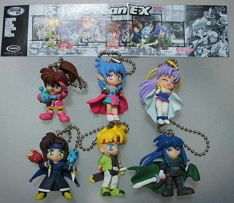 Movic Star Ocean EX Gashapon 6 Strap Swing Trading Collection Figure Set - Lavits Figure