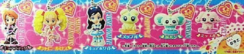 Bandai Pretty Cure 2 Max Heart Gashapon Black White Luminous Nagisa 6 Mascot Strap Figure Set - Lavits Figure