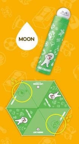 App Line Friends Character Moon Water Color Changed Umbrella - Lavits Figure