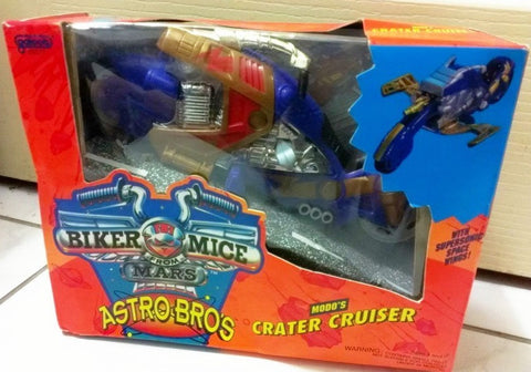 Galoob Biker Mice From Mars Astro Bros Modo's Crater Cruiser Bike Figure Broken - Lavits Figure  - 1