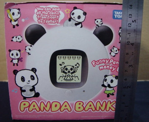 Takara Tomy Digital Pet Funny Panda Money Coin Bank Play Figure - Lavits Figure  - 1