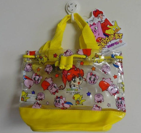Authentic 1994 Tonde Burin Buurin Plastic Mini Tote Bag W/ Purse Yellow Ver. - Lavits Figure