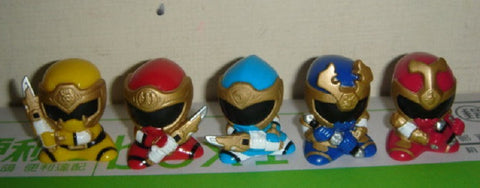 Bandai Power Rangers Hurricanger Ninja Storm Gashapon 5 Mini Trading Figure Set - Lavits Figure