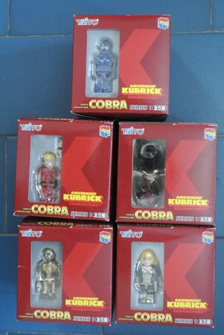 Medicom Toys Taito Kubrick 100% Cobra Space Adventure Series 1 5 Action Figure Box Set - Lavits Figure